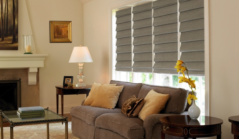Gray Shades In Family Room