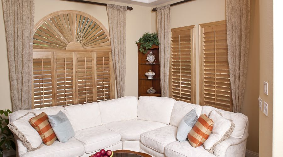 Ovation Wood Shutters In Destin Living Room