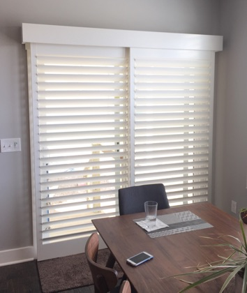 Destin chic sliding door shutters