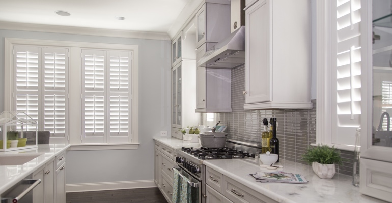 Destin kitchen white shutters