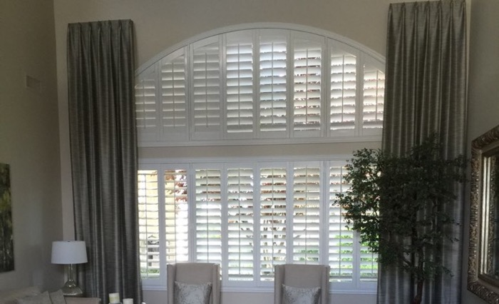 Destin drapes and shutters.