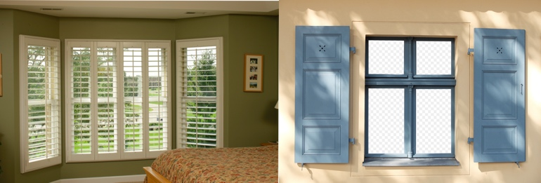 Destin Florida exterior and interior shutters
