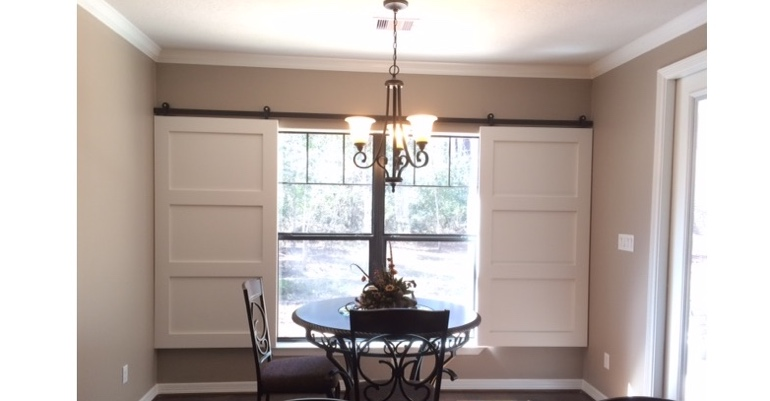 Destin barn door shutters