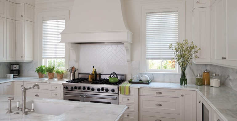 Destin white faux wood blinds
