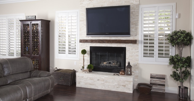 interior shutters in Destin living room