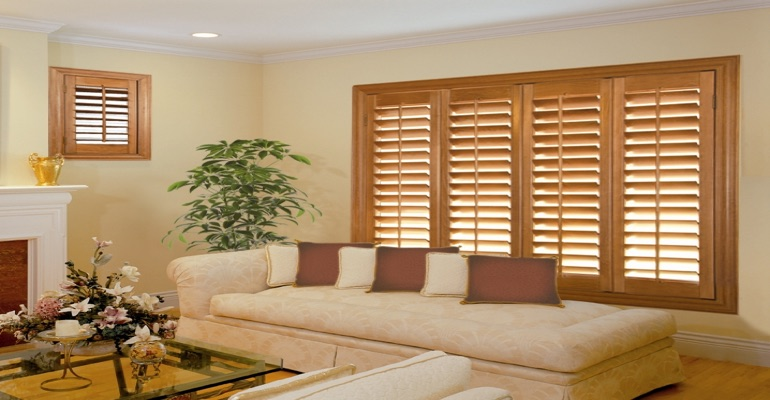 wood shutters Destin parlor