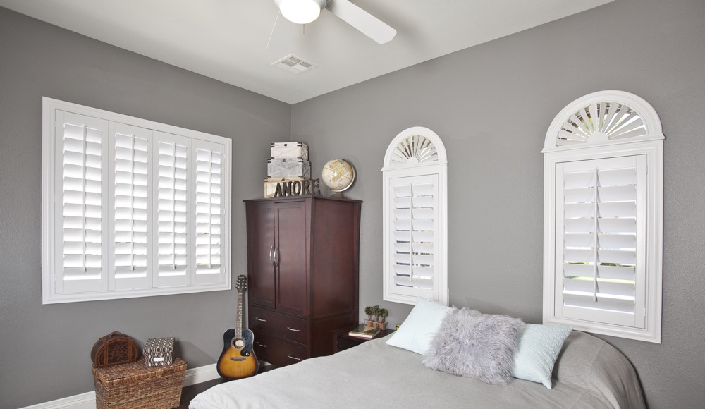 Polywood Shutters In A Destin Bedroom