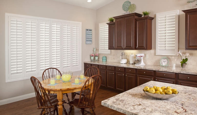 Polywood Shutters in Destin kitchen