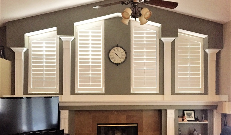 Polywood Shutters in Family Room in Destin
