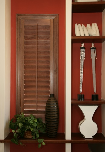 Destin wood shutter shelving