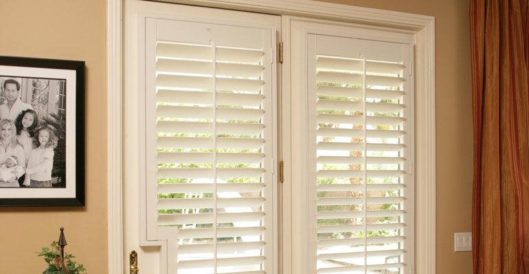 Destin french door white shutters