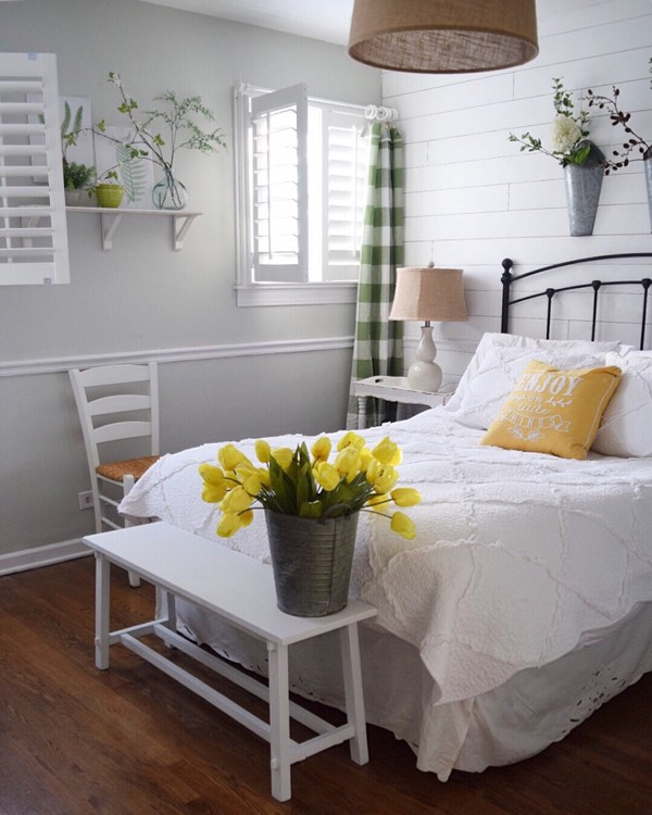 Destin cottage bedroom shutters