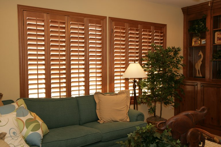 Ovation Shutters In A Destin Living Room.