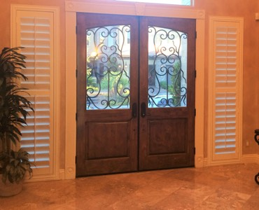 Destin sidelight window treatment shutter