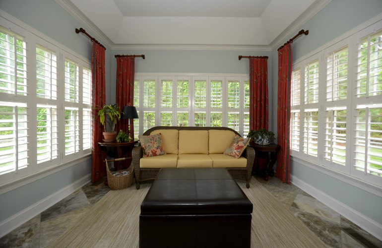 Plantation Shutters In A Destin Sunroom